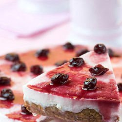 Cheesecake with Coconut and Blueberries without Baking