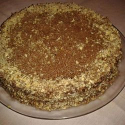 Garash Cake with Walnuts