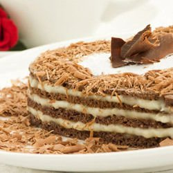 Delicious Chocolate Heart Cake