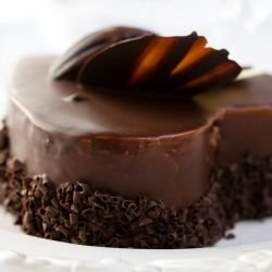 Exquisite Chocolate Heart Cake
