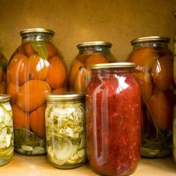 Canned Zucchini for Salads and Garnishes