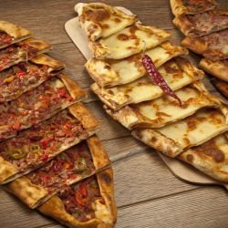 Turkish Pide with Cheese