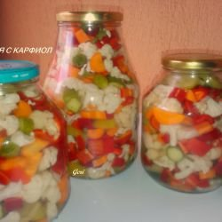 Mixed Pickle with Cauliflower
