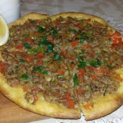Turkish Pizza with Minced Meat