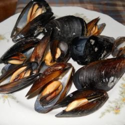 Boiled Mussels with Beer