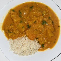 Vegan Curry with Lentils and Pumpkin