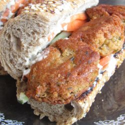 Vegan Sandwiches with Vegetables and Falafel