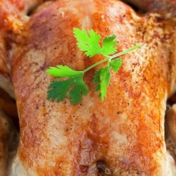 Chicken with Raisins and Ham