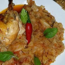 Tasty Chicken with Cabbage