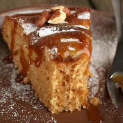 Walnut Cake with Caramel