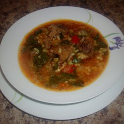 Beef, Spinach and Rice stew