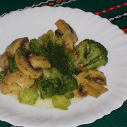 Sauteed Broccoli with Mushrooms
