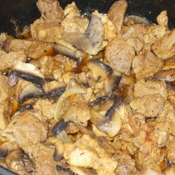 Stewed Pork with Onions and Mushrooms