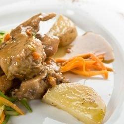 Rabbit Meat and Potato Dish
