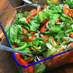 Salad with Honey and Mustard Dressing