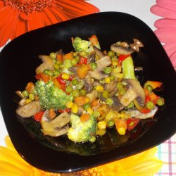 Pan-Fried Vegetables with Mushrooms