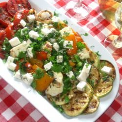 Roast Veggies with Feta Cheese