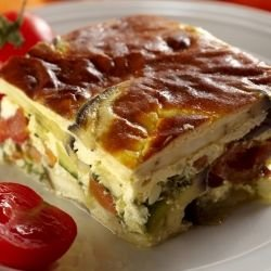 Moussaka with Zucchini, Eggplant and Potatoes