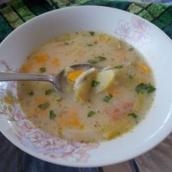 Vegetable Soup with Thickening Agent