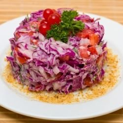 Winter Salad with Red Cabbage