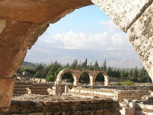 Ruins of ancient city of Anjar