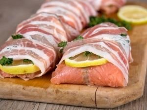 Salmon in Bacon