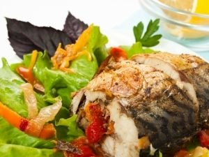Mackerel with vegetables