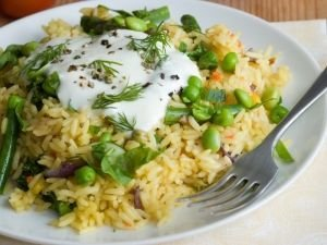 broad beans and rice