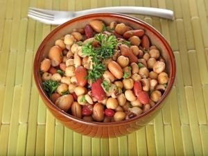 chickpeas and beans