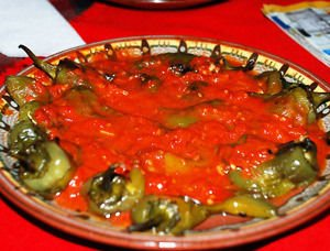 Peppers with tomato sauce