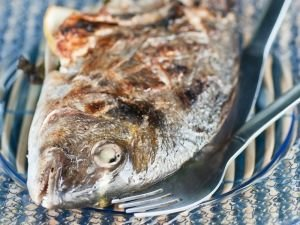 Baked bream
