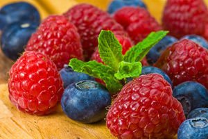 raspberries and berries