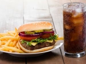 Cola and Burger with fries