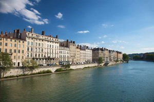 Lyon from Rhone River