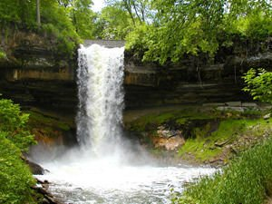 Minnehaha Falls near Minneapolis