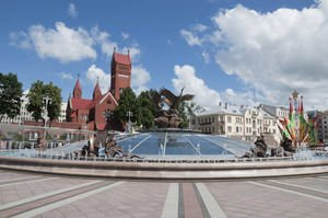 Fontain in Minsk, Belarus
