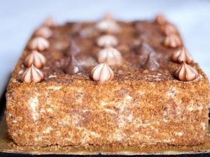 Biscuit Cake with Walnuts and Rum