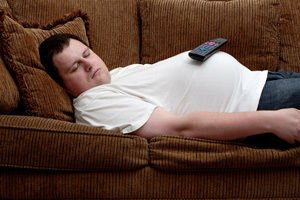 Obese people sleep less