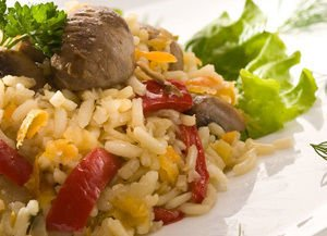 Chicken Gizzards with Rice and Carrot
