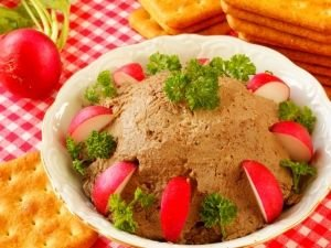Pate with radishes