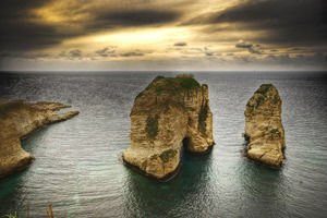 Peagons Rock Raouché in Beirut