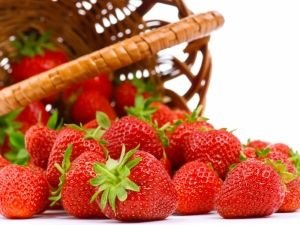 strawberries with basket