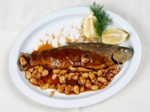 fish with nuts