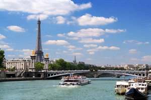 The Seine River and the Eiffel Tower in Paris