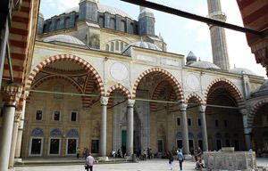 In the yard of Selimiye Mosque, Edirne, Turkey