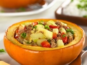 Stuffed Pumpkin with meat