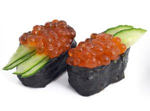 Sushi with Caviar
