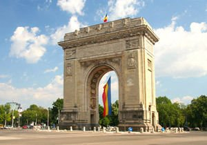 Arc de Triomphe in Bucharest, Romania