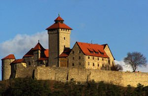 Wachsenburg Castle in German provice of Thuringia