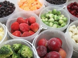 frozen fruits and veggies